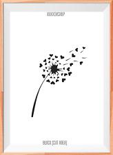 Dandelion Hearts Mylar Reusable Stencil Airbrush Painting Art Craft DIY home