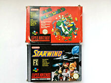 SUPER NINTENDO SNES GAMES – STARWING & SUPER MARIO WORLD