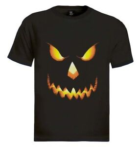 Halloween Pumpkin T-Shirt For Men Scary Face Skeleton Adult Easy Costume Funny