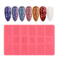 3D Nail Art Silicone Printing Template Powder Pigment Tool Dust Decor