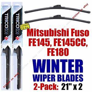 WINTER Wiper Blades 2pk fit 2005-2008 Mitsubishi Fuso FE-Series - 35210x2