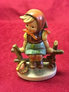 "Goebel Figure: Lovely Condition West German Figurine: ""Girl Just Resting"" C1938"