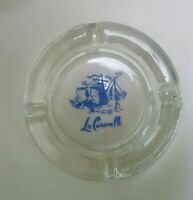 Vintage La Caravelle French New York City NYC Glass Ashtray Iconic Ships Rare