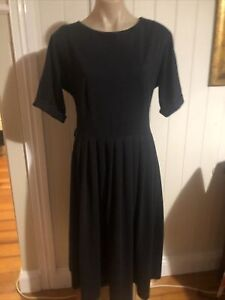 Vintage Navy Swing Dress 14/16