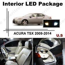 White LED Lights Interior Package Kit for ACURA TSX 2009-2014 ( 14 Pcs )