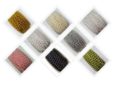 Beaded Trimming 5mm Fused Bead Trim Wedding Party Cakes Decoration 14 Colours