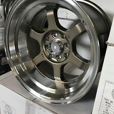 15x9 4x100 or 4x4.5 0 offset Bronz Tuner Racing Wheels