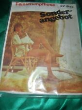 Rare Vintage 70er J. Nylon Sheer Tights Size 40-42 Smoke Collant Tights Ovp