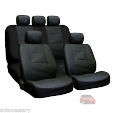 New Porous Black Leatherette Car Seat Covers Set For Honda