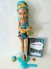 Monster High Nefera De Nile ist Onda Muñeca Con Soporte Bolsa Mascota Diario & Cepillo