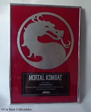 Acclaim Mortal Kombat Presentation Plaque - Nintendo SNES / Sega Mega Drive era