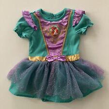 Disney Mermaid Ariel Baby Girl 6-12 Months Bodysuit Dress Tulle Sparkle