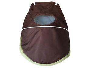 Graco Alano Classic Connect Single Stroller Canopy Hood Visor Fabric Brown Mint