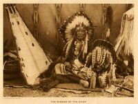 THE VANISHING RACE - THE WIGWAM OF THE CHIEF - GENUINE - PHOTOGRAVURE 104