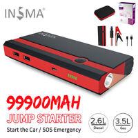 99900mAh 12V USB Coche Salto de Arranque Arrancador Cargador Batería LED