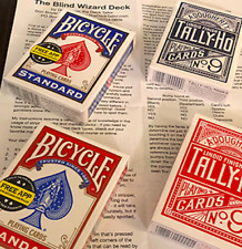 The Blind Wizard Deck Red Bicycle (Gimmicks and Online Instructions)by Don Boyer