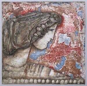 Mixed Media Painting by Ljubo Biro Greek - Roman Goddess? Mid Century Modern