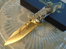 Master Collection Assisted Open Gold Dragon Pocket Knife MC-A045 w Gift Box New