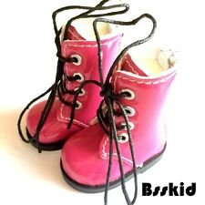 "Y01 BJD Yo-SD 1/6 Dollfie 13"" Effner 12"" Kish Doll Shoes Boot Hot Pink Zip"