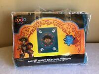 "New Disney Pixar ""Coco"" Plush Baby Raschel Throw Super Soft Blanket 43.5"" X 55"""