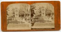 Canda Monument Death at 17 Birthday Greenwood Cemetery New York Stereoview