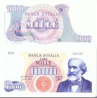 1964 Italia Banconota Lire 1000 Verdi  DM 25-07-1964 Rara 3 Quasi Fior Di Stampa