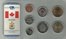 Canada set 1 Cent - 2 Dollars 2002 - 2007 incl. Lucky Loonie plastic folder UNC