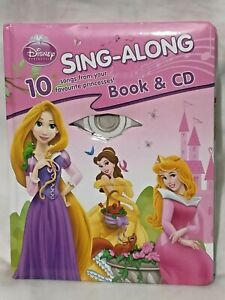 Book & CD-Rom Disney Princess Sing Along Disney Cinderella Learn Sing Songs Game