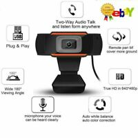 1080P HD USB Webcam for Computer PC Desktop Laptop Web Camera with Microphone US