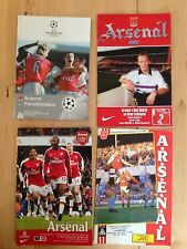 4 Arsenal football programmes. One Signed by Peter Beardsley Liverpool