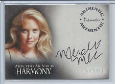 SPIKE THE COMPLETE STORY STORY MERCEDES MCNAB AS HARMONY AUTOGRAPH #A4 BUFFY