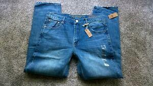 American Eagle Slim Straight Medium Blue Jeans Size 36x32 NWT