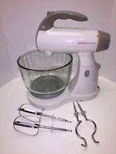 Sunbeam Mixmaster 2370 Stand Mixer Counter Handheld Glass Bowl Hooks Beater