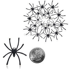 20pcs/Bag Halloween Fake Spider Joking Toys Party Decor Prop Insects Bugs Decor