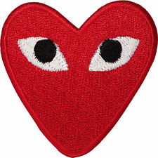 Red Love Heart Eyes Iron On Patch Sew On Embroidery Badge Embroidered transfer