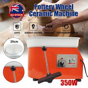 350W 25CM Electric Pottery Wheel Machine Ceramic Work Clay Art Craft Foot Peda O
