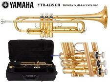 YAMAHA YTR4335 GII TROMBA IN SIB LACCATA ORO campana in Gold Brass Canneggio ML: