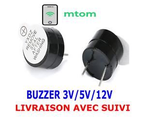 Buzzer actif 3V / 5V / 12V  Audio, DIY, Arduino, Domotique, Raspberry Pi piezo 1