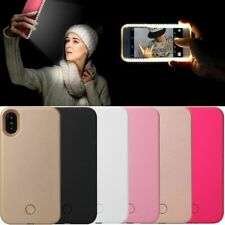 Selfie LED Light Up Bright Phone Back Case Cover iPhone 6 6S 7 8 X PLUS Samsung