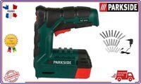 PARKSIDE® Agrafeuse Cloueuse pistolet sans fil avec 2500 agrafes et clous