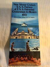 Vintage 1972 New Sitmar Cruises Cruise Travel Brochure T.S.S. Fairsea & Fairwind