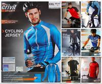 Original CRIVIT® Bike Men's Cycling Jersey Long Sleeve T-Shirt TOPCOOL® Fabric