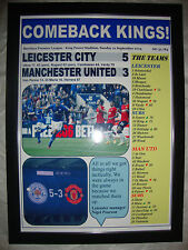 Leicester City 5 Manchester United 3 - 2014 - framed print