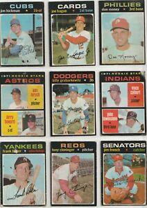1970, 1971, 1972 O Pee Chee Baseball Lot of 39 w/ Gibson