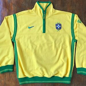 Brasil 1998 retro Nike training. Very rare! Prepared for players. Made in USA