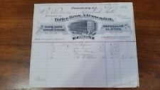 1886 Providence Rhode Island Billhead Fidler Bros & Fessenden Umbrellas Gloves