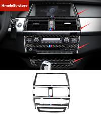 For BMW X5 X6 E70 E71 2008-2013 Real Carbon Fiber Center Control Kit Decor Trim