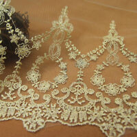 1 Yard Gold Lace Trim Embroidery Bridal Jewelry Wedding Craft Sewing Fabric Mesh