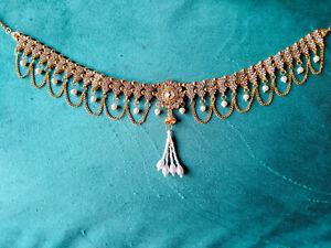 Ethnic Indian Chain Jewelry Traditional Gold Tone Hip Kamar Bandh Waist Belt