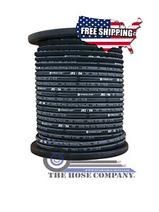 """** NEW 100ft R2-06 3/8"""" SAE 100-R2 2WIRE 5000PSI HYDRAULIC HOSE FREE SHIP"""
